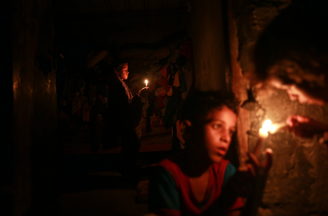 Gazze Karanlığa Gömüldü